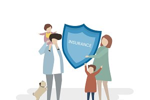 Illustration of family insurance