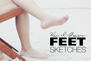 Hand-drawn Feet Sketches
