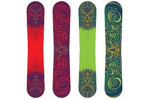 Snowboards print design