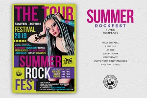 Summer Rockfest Flyer Template