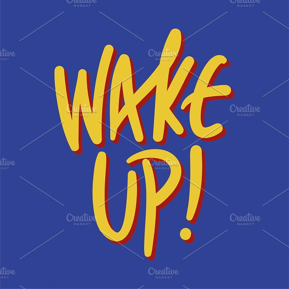 Illustration Of Wake Up Word