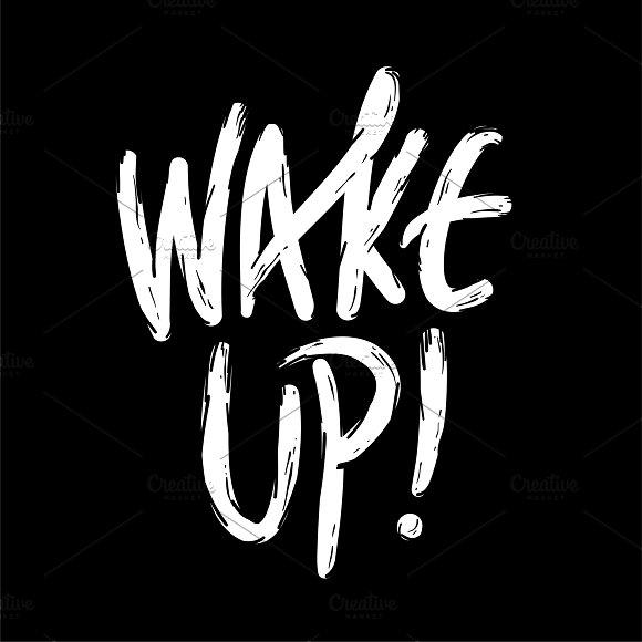 Illustration Of Wake Up Word