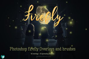 Firefly OVERLAYS + PHOTOSHOP BRUSHES