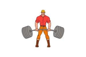 Buffed Lumberjack Lifting Weights Ca