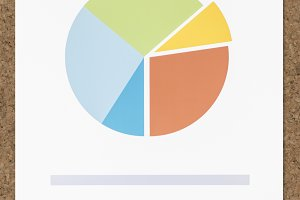 Business data pie chart icon (PSD)