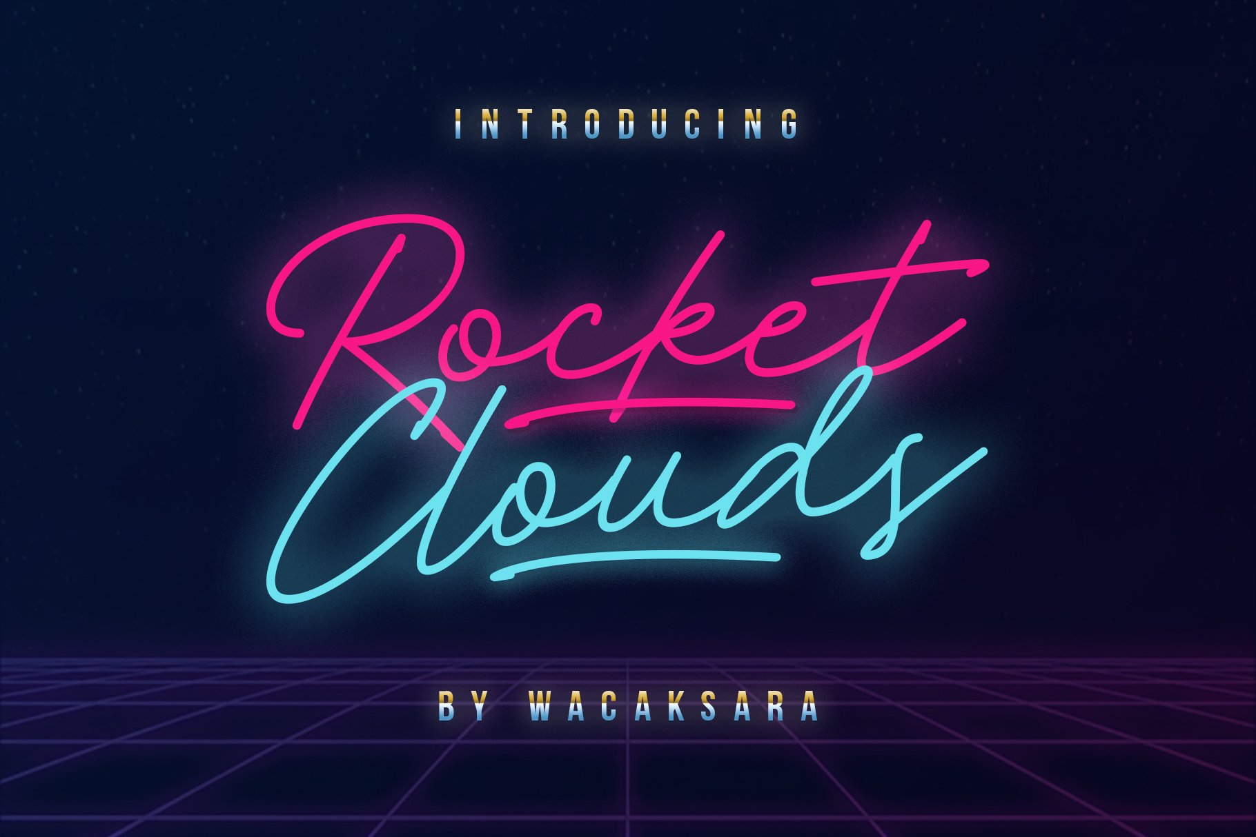 Rocket clouds script fonts creative market pro previous thecheapjerseys