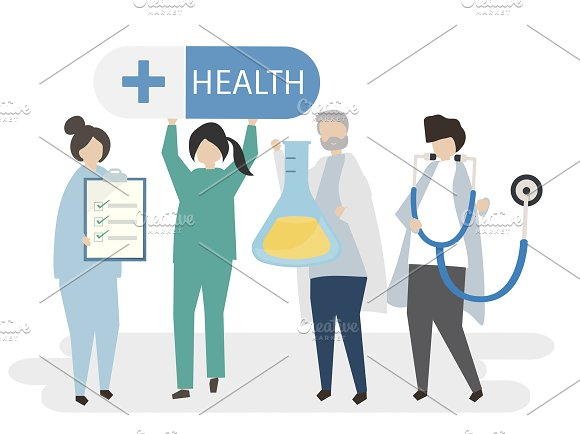 Illustration Of Doctors And Health