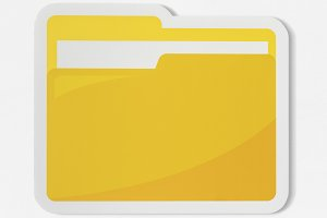 Icon of a yellow folder (PSD)