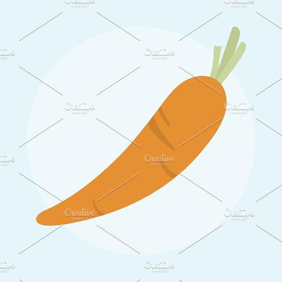 Illustration Of Fresh Carrot