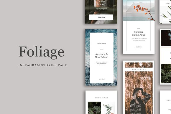 Foliage - Instagram Stories Pack