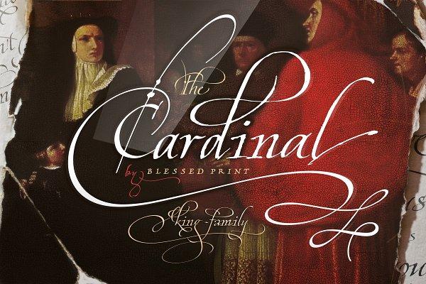 Cardinal - Italic script trio