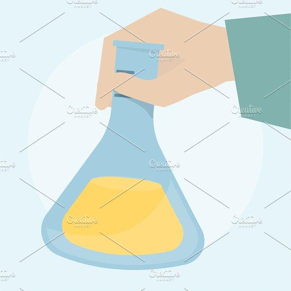 Illustration Of A Laboratory Flask
