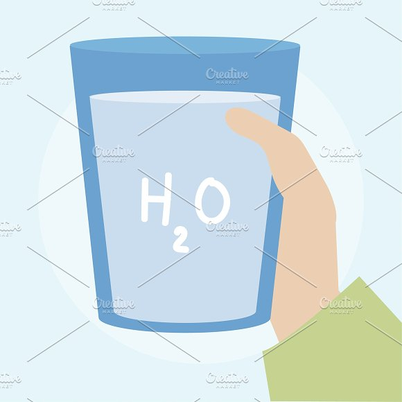 Illustration Of A Glass Of Water