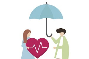 Illustration of health insurance