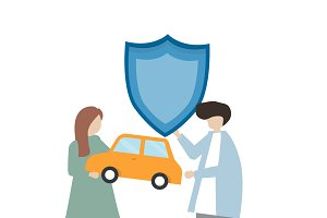 Illustration of car insurance