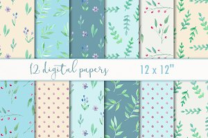Summer scrapbooking paper pack