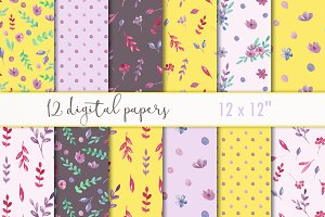 Spring scrapbooking paper pack