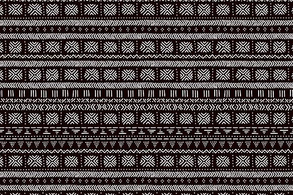 Mudcloth Ethnic Seamless Pattern