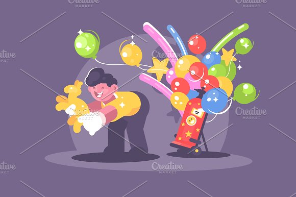 Seller Of Balloons With Helium