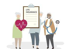 Illustration of senior insurance