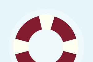 Illustration of lifebuoy drowning