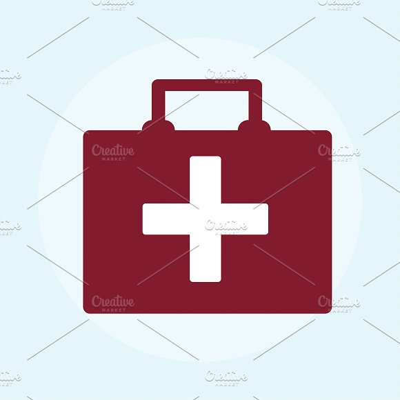 Illustration Of A Red First Aid Box