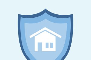 Illustration of home insurance icon