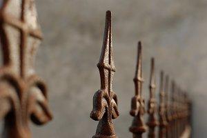 Decoration rusty gate