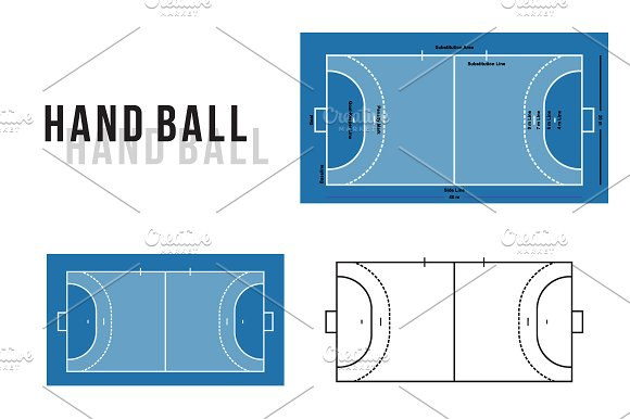 Handball Court Vector Illustration
