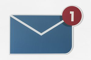 New message email icon (PSD)