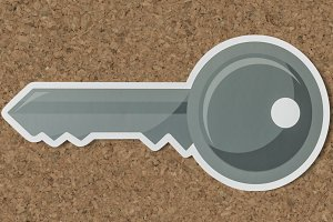 Key security access icon symbol(PSD)