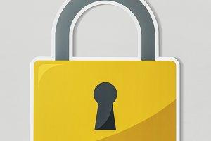 Privacy safety lock icon symbol(PSD)