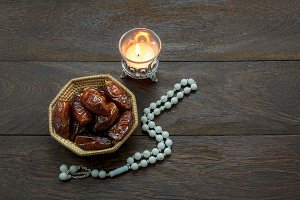 Top view Ramadan Kareem