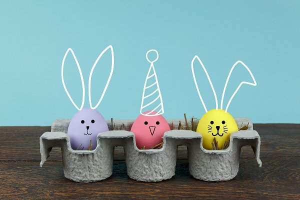 Decoration  Happy Easter background…