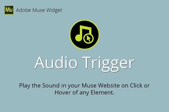 Audio Trigger Adobe Muse Widget
