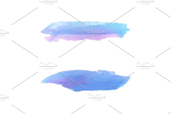 Blue Acrylic Brush Stroke Painted Texture On Transparent Background Vector Illustration