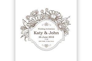 Wedding vintage card