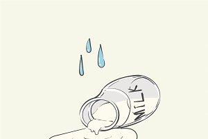 Cry over spilt milk