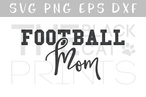 Football Mom SVG DXF PNG EPS