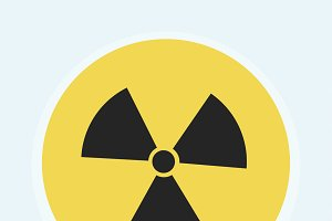 Illustration of radioactivity sign