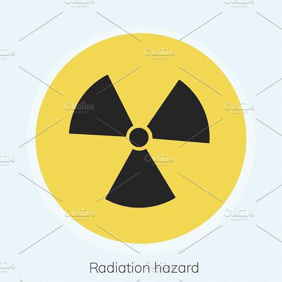 Illustration Of Radioactivity Sign