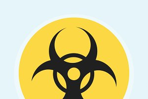 Illustration of biohazard warning