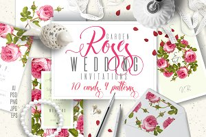 GARDEN ROSES|Wedding invitations