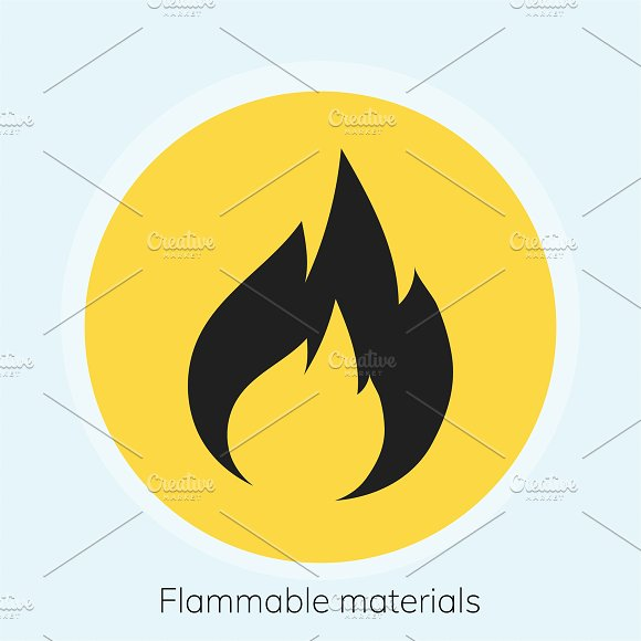 Illustration Of Flammable Materials