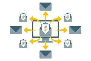 Sending email messages with purpose of enhancing merchants