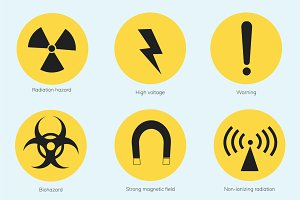 Illustration of warning signs