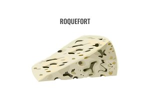Roquefort soft blue cheese made from ewes milk.