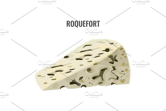 Roquefort Soft Blue Cheese Made From Ewes Milk