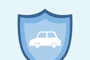 Illustration of a car insurance icon