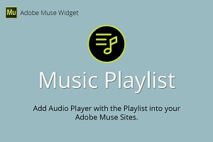 Music Playlist Adobe Muse Widget